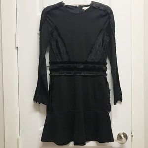 H&M Black Mini Dress with Fringe